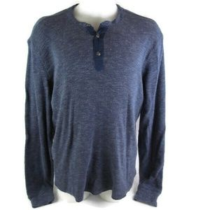 Lucky Brand Blue Lived In Henley Shirt